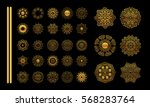 mandala golden set.  gold... | Shutterstock . vector #568283764