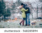 so happy together | Shutterstock . vector #568285894