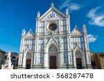 the basilica di santa croce  ... | Shutterstock . vector #568287478