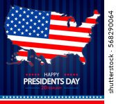presidents day background.... | Shutterstock .eps vector #568290064