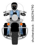 heavy chopper motorcycle with... | Shutterstock .eps vector #568296790