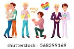 gay couple concept... | Shutterstock .eps vector #568299169
