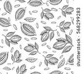 cocoa branch vector seamless... | Shutterstock .eps vector #568299283