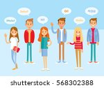 international students | Shutterstock .eps vector #568302388