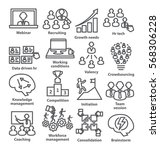 business management icons in... | Shutterstock . vector #568306228