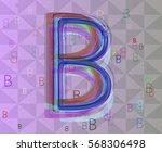 b alphabet pattern vector