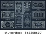vintage set retro cards.... | Shutterstock .eps vector #568308610