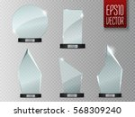 glass trophy award. vector... | Shutterstock .eps vector #568309240