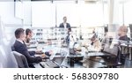 successful team leader and... | Shutterstock . vector #568309780