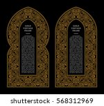 eastern gold frames arch.... | Shutterstock .eps vector #568312969