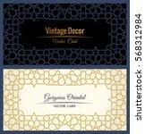 eastern gold frame arabic... | Shutterstock .eps vector #568312984