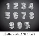 3d silver grey metallic letter. ... | Shutterstock .eps vector #568318579