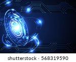 abstract technology... | Shutterstock .eps vector #568319590