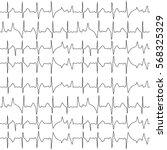 seamless pattern of the ekg... | Shutterstock .eps vector #568325329