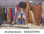 african american female... | Shutterstock . vector #568325590