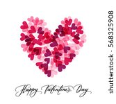 background with hearts and... | Shutterstock .eps vector #568325908