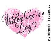 hand paint vector heart... | Shutterstock .eps vector #568328716