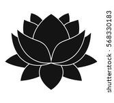 water lily flower icon. simple... | Shutterstock .eps vector #568330183