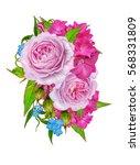flower composition. bouquet... | Shutterstock . vector #568331809
