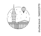 round the emblem of the city of ... | Shutterstock .eps vector #568332970