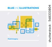 blue line illustration concept... | Shutterstock .eps vector #568333804