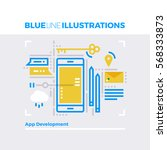 blue line illustration concept... | Shutterstock .eps vector #568333873
