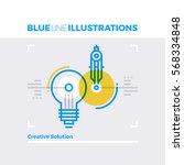 blue line illustration concept... | Shutterstock .eps vector #568334848