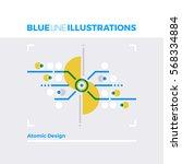 blue line illustration concept... | Shutterstock .eps vector #568334884
