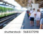 abstract people walking in... | Shutterstock . vector #568337098