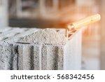 cement or mortar  cement powder ... | Shutterstock . vector #568342456