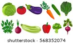 eco food menu background. fresh ... | Shutterstock .eps vector #568352074