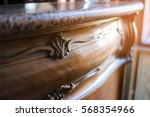 old marble top drawer. wood... | Shutterstock . vector #568354966