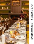 christmas table | Shutterstock . vector #568358170