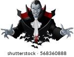 evil vampire picture | Shutterstock .eps vector #568360888