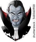 evil vampire picture | Shutterstock .eps vector #568360900