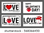 happy valentine's day greeting... | Shutterstock .eps vector #568366450