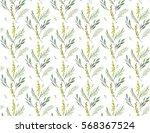 watercolor hand drawn seamless... | Shutterstock . vector #568367524