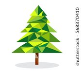 green geometric tree formed by... | Shutterstock .eps vector #568370410