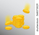 stack from gold coins  on a... | Shutterstock .eps vector #568373029
