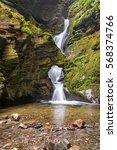 st nectans kieve waterfall in... | Shutterstock . vector #568374766