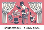 set of vintage illustrations... | Shutterstock .eps vector #568375228