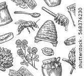 Seamless Pattern With Honey ...