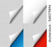 corners set  vector illustration | Shutterstock .eps vector #568379896