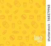 lunch background. pattern with... | Shutterstock .eps vector #568379968