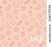 breakfast background. pattern... | Shutterstock .eps vector #568379998