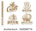 set beer logo   vector... | Shutterstock .eps vector #568388776