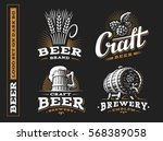 set beer logo   vector... | Shutterstock .eps vector #568389058