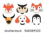 Set Animal Flat Logo   Vector...
