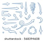 set of different straight and... | Shutterstock .eps vector #568394608