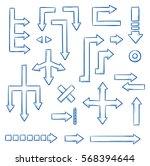 set of different straight... | Shutterstock .eps vector #568394644